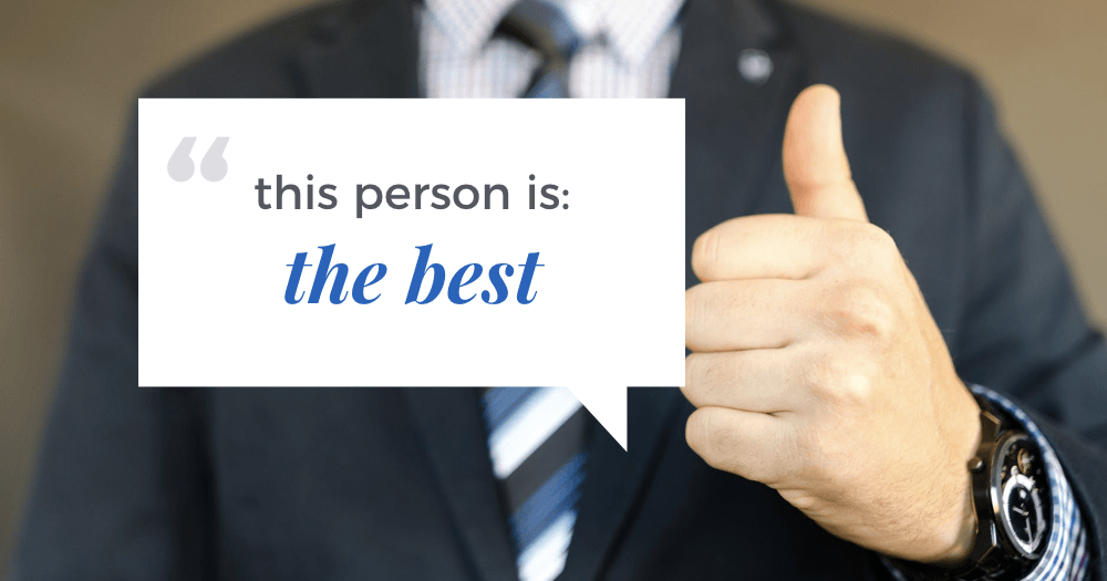 positive recommendation to land your first client