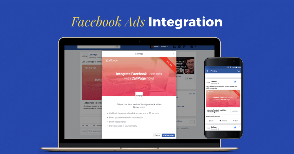 callpage facebook ads integration features review
